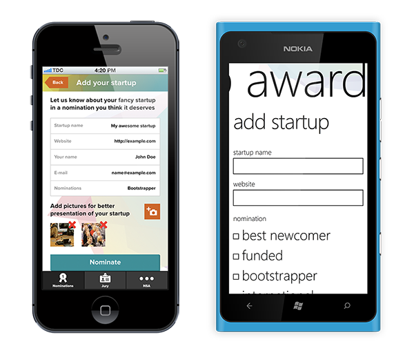 iPhone & Windows Mobile apps